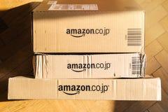 Amazonka Pierwszorzędny karton widzieć od above podłoga domu obraz royalty free