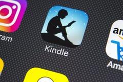 Amazonka Rozognia podaniową ikonę na Jabłczany X iPhone parawanowym zakończeniu Amazonka Rozognia app ikonę Amazonka rozognia zas Zdjęcie Royalty Free