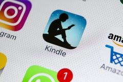 Amazonka Rozognia podaniową ikonę na Jabłczany X iPhone parawanowym zakończeniu Amazonka Rozognia app ikonę Amazonka rozognia zas Obraz Stock