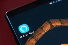 Amazonki alexa app ikona zdjęcia royalty free