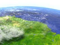 Amazonki delta na realistycznym modelu ziemia Fotografia Royalty Free