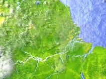 Amazonki delta na realistycznym modelu ziemia Fotografia Stock