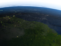 Amazonki delta przy nocą na planety ziemi Obraz Royalty Free