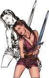Amazons. 1 ilustração royalty free