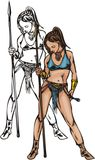 Amazons 3. ilustração stock