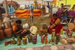 Ambacht, West-Bengalen, India royalty-vrije stock afbeeldingen
