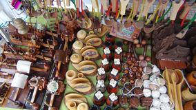 Ambachten in Kerstman cruz Bolivië, Zuid-Amerika stock foto's