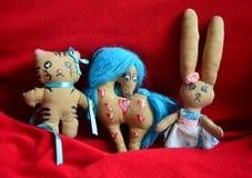Ambachtspeelgoed met de hand gemaakt door een kind Stock Afbeeldingen