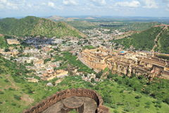 Ambar Fort Top View. Stock Image