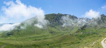 Ambarli高原全景在黑海,里泽,土耳其 免版税库存图片