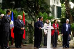 ambasady fillion France Francis ja mowa Obraz Royalty Free