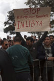 ambasady libijczyka protest obrazy royalty free