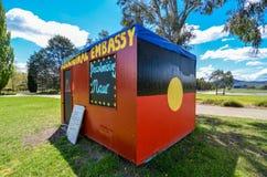 Ambasciata aborigena, Canberra, Australia Immagine Stock