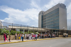 Ambasciata degli Stati Uniti d'America a Avana, Cuba Immagine Stock