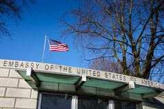 Ambasciata degli Stati Uniti dublino l'irlanda fotografie stock libere da diritti
