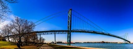 Ambasciatore Bridge, Windsor, Ontario, Canada fotografie stock