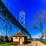 Ambasciatore Bridge, Windsor, Ontario, Canada fotografia stock