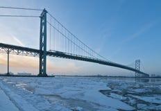 Ambasciatore Bridge, windsor Ontario Canada fotografie stock libere da diritti