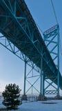 Ambassadör Bridge, windsor ontario Kanada arkivfoton