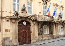 Ambassad av Rumänien i Prague Royaltyfria Foton