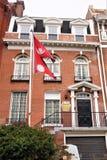 Ambassade de drapeau du Népal photos libres de droits