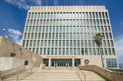 Ambassade des Etats-Unis d'Amérique à La Havane, Cuba Image libre de droits