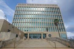 Ambassade des Etats-Unis d'Amérique à La Havane, Cuba Image stock