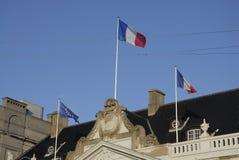 AMBASSADE DU TERRORISTE ATTACKED_FRENCH DE PARIS images stock