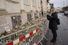 AMBASSADE DU TERRORISTE ATTACKED_FRENCH DE PARIS photographie stock libre de droits