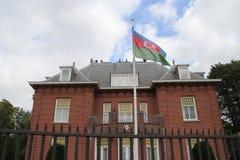 Ambassade van Azerbeidzjan in de stad van Den Haag waar alle diplomaten in Nederland werken stock fotografie