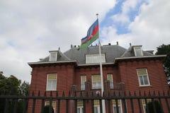Ambassade van Azerbeidzjan in de stad van Den Haag waar alle diplomaten in Nederland werken stock foto