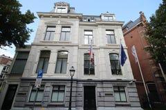 Ambassade van Controlerepubliek in de stad van Den Haag waar alle diplomaten in Nederland werken royalty-vrije stock fotografie
