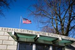 Ambassade van de Verenigde Staten dublin ierland Royalty-vrije Stock Foto's