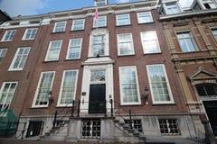 Ambassade van Georgië in de stad van Den Haag waar alle diplomaten in Nederland werken royalty-vrije stock afbeeldingen