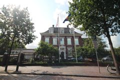 Ambassade van Indonesië in de stad van Den Haag waar alle diplomaten in Nederland werken stock afbeeldingen
