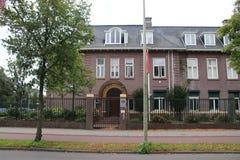 Ambassade van Irak in de stad van Den Haag waar alle diplomaten in Nederland werken stock foto