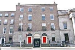 Ambassade van Letland, Dublin, Ierland Stock Fotografie