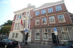 Ambassade van Marokko en Ethiopië in de stad van Den Haag waar alle diplomaten in Nederland werken royalty-vrije stock fotografie