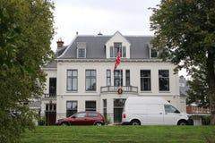 Ambassade van Noorwegen in de stad van Den Haag waar alle diplomaten in Nederland werken royalty-vrije stock afbeelding