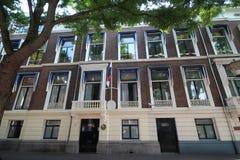 Ambassade van Panama in de stad van Den Haag waar alle diplomaten in Nederland werken stock afbeeldingen