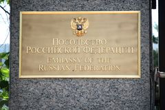 Ambassade van Rusland royalty-vrije stock foto
