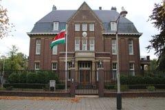 Ambassade van Suriname in de stad van Den Haag waar alle diplomaten in Nederland werken stock afbeeldingen