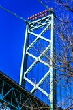 Ambassadeur Bridge, Windsor, Ontario, Canada stock afbeelding