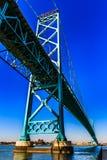 Ambassadeur Bridge, Windsor, Ontario, Canada royalty-vrije stock afbeeldingen