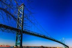 Ambassadeur Bridge, Windsor, Ontario, Canada royalty-vrije stock afbeelding