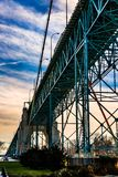 Ambassadeur Bridge, Windsor, Ontario, Canada royalty-vrije stock foto's