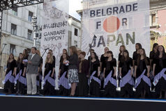 Ambassadeur van Japan in Belgrado Tosio Cunozaki Stock Afbeelding