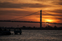 Ambassador bridge Royalty Free Stock Photography