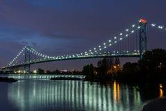 Ambassador Bridge. The bridge that links Windsor, Canada to Detroit, USA Stock Photography