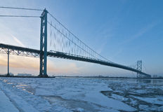 Ambassador Bridge, windsor ontario Canada Royalty Free Stock Photos